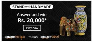 Amazon Stand for Handmade Quiz Answers