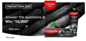 Amazon Colgate Charcoal Clean Quiz Answers