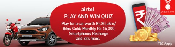 Airtel Contest Zone Play and Win