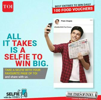 Times of India Selfie with the Times
