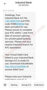 Indusind Bank Zero Balance Account 11