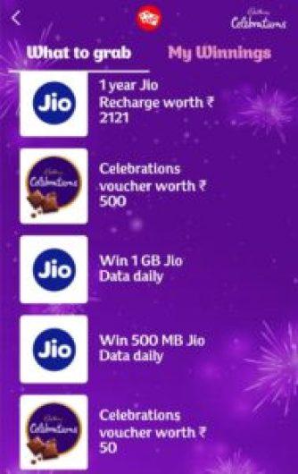 MyJio Cadbury Celebrations Offer 01