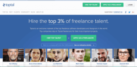 toptal free sites like upwork