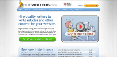 hirewriters free sites like upwork
