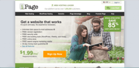 free web hosting ipage like godaddy