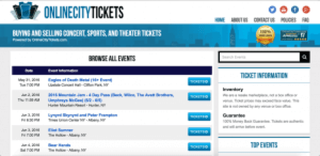 online city tickets sites like stubhub