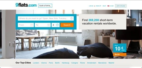 9flats sites like airbnb