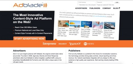 adblade outbrain alternatives