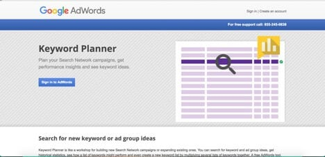 Sites like Google Keyword Planner