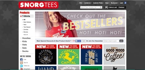 Sites like Snorg Tees