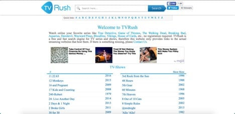 Sites like TVrush