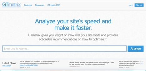 Sites like gtmetrix