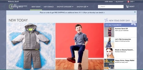 Sites like Zulily