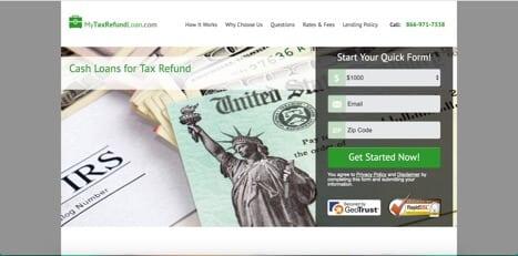 my tax refund loan