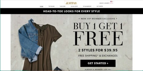 sites like justfab