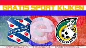 Live SC Heerenveen - Fortuna Sittard