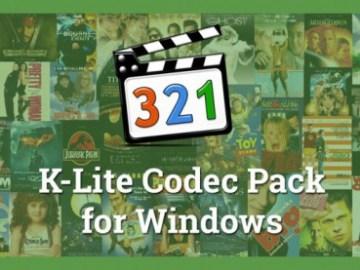 K-Lite Codec Pack Full Version 2016 Free Download