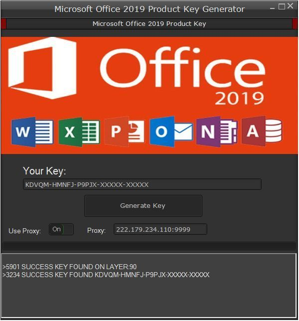 microsoft office 2019 activation key
