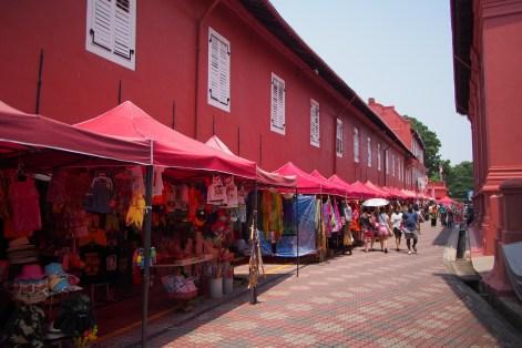 Street Vendors beside Christ Church