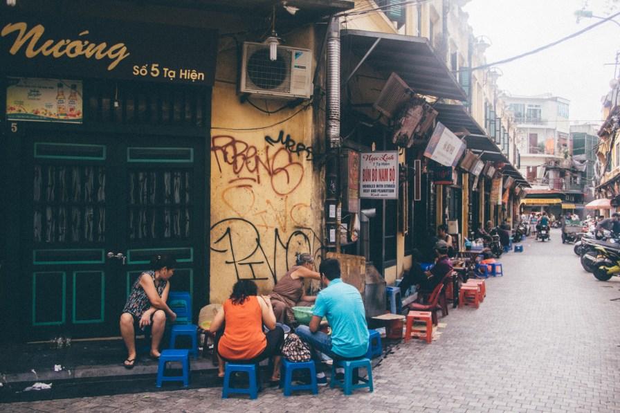 Hanoi Roadside Food Shop
