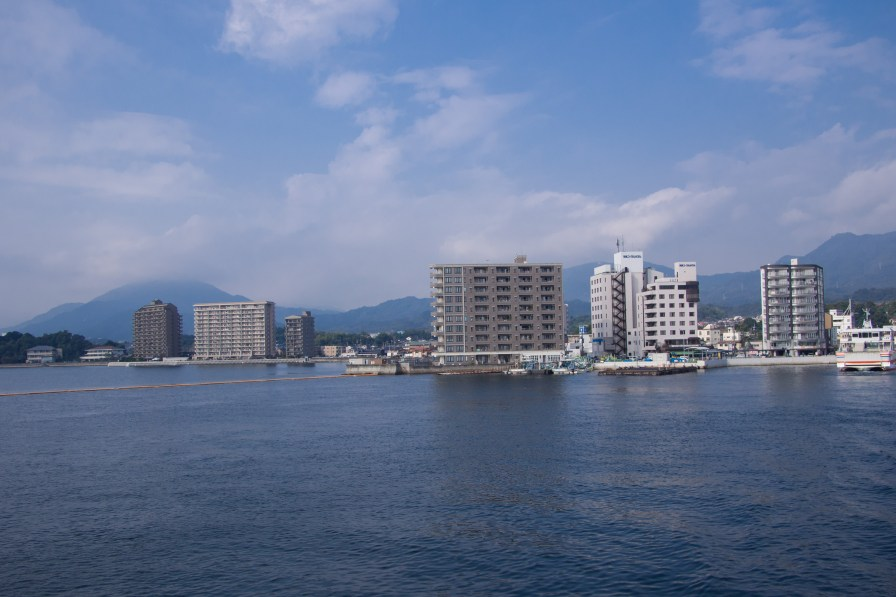 View of Hiroshima from the sea