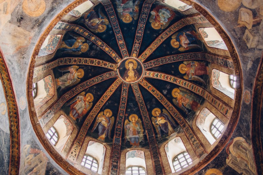 Christ Pantocrator at the South Dome, Chora Church