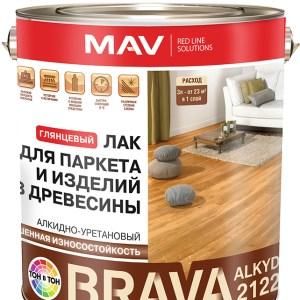 Алкидно-уретановый лак МАВ Ecol для паркета глянцевый 3 литра