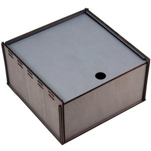 Коробка с выдвижной крышкой 20х20х8 см 3065