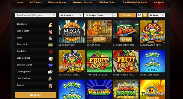 Videoslots Casino Games and Software Providers