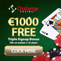 Challenge Casino | 175% up to €1000 bonus and free spins | review