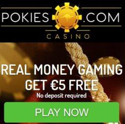 Pokies Casino | $5 no deposit + 50 free spins + $800 bonus | review