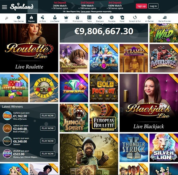 Spinland Casino Review & Rating