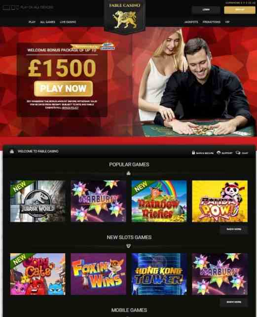 Fable Casino - free bonus and free spins
