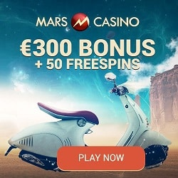 Mars Casino | 50 instant free spins + €300 (or 3 BTC) bonus | Review
