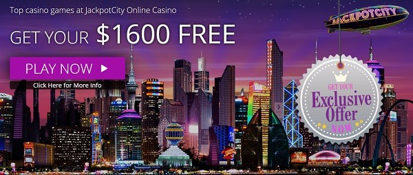 $1600 free bonus at JackpotCity Casino