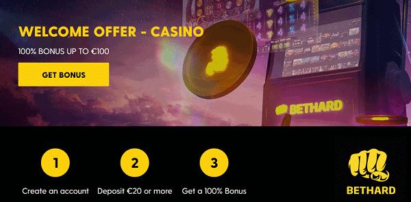 100% bonus on slots and live dealer and sportsbook