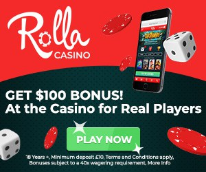 Rolla Casino | Get up to €500 bonus and 500 free spins | Review