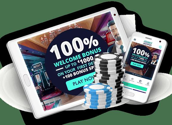 Jonny Jackpot Casino 100 free spins on Starburst + 100% welcome bonus
