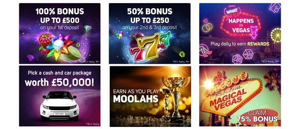 Magical Vegas Casino 100 free spins and 1000 GBP welcome bonus