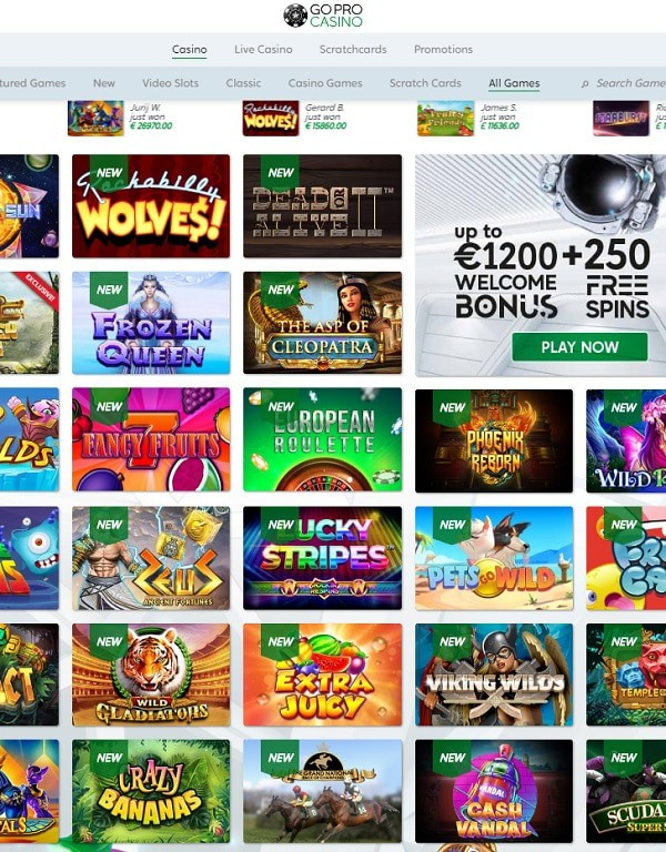 GoPro Online Casino Review