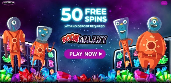JackpotCity Casino 50 free spins no deposit bonus for new players