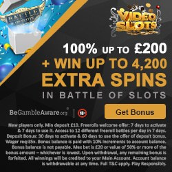 Videoslots Casino | 100% welcome bonus + 4200 extra spins | Review
