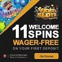 VideoSlots Casino 11 free spins + 100% welcome bonus
