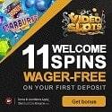 VideoSlots Casino 11 free spins + 100% welcome bonus