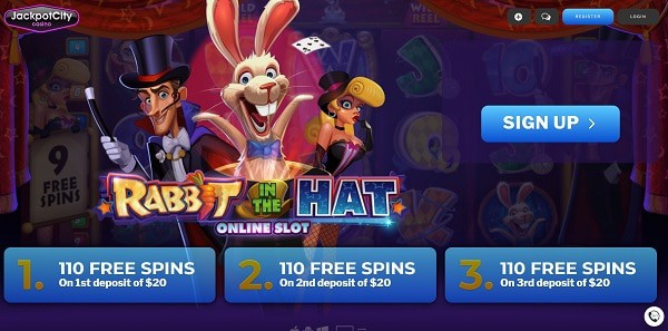 333 free spins JackpotCityCasino.com Exclusive Bonus