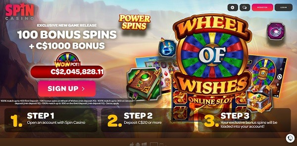 100 free spins on Wheel of Wishes jackpot (Microgaming)