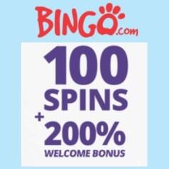 Bingo Casino 100 free spins NDB and 100% welcome bonus