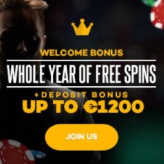 Shadow Bet Casino   €1200 bonus and 520 free spins   mega jackpots!