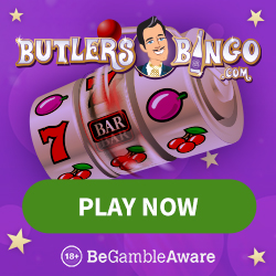 BUTLERS BINGO - 100 free spins and 400% bonus up to £400