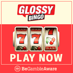 GLOSSY BINGO - 100 free spins and £300 bonus - new casino games!